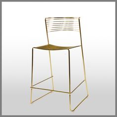 MICA GOLD COUNTER STOOL-ELECTRO PLATED