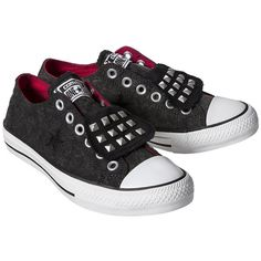 Women's Converse One Star Studded Sneaker - Black