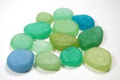 Faux Sea Glass made with Pardo Translucent Art clay. See The Blue Bottle Tree for the tutorial and color recipes.