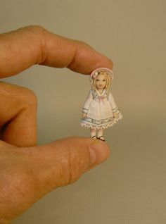 Tiny 1:12 Scale Doll's Doll by DixonPaverDolls on Etsy