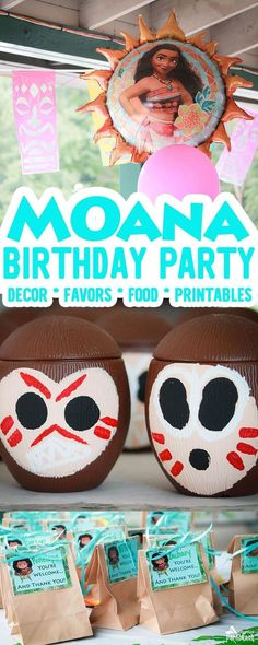 Does your child want a Moana Birthday Party Theme? Check out our Moana Party - featuring special touches for everything from the invitation, to party decor, Heart of Te Fiti food and favors, kakamoras and more! Downloadable Moana party printables too!   Kids Birthday Party   Moana Party   Disney Moana  