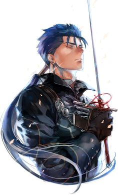 Fate/Stay Night - Lancer Character Concept, Character Art, Character Design, Fate Characters, Fantasy Characters, Anime Guys, Manga Anime, Fate Quotes, Fate Archer