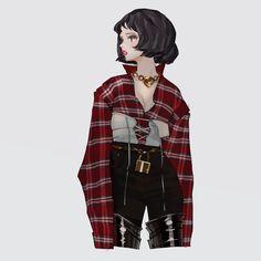 By wonbin lee on ArtStation Character Outfits, Character Art, Character Design, Anime Art Girl, Manga Girl, Tmblr Girl, Petty Girl, Badass Women, Fashion Art