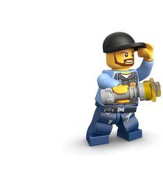 LEGO.com City Downloads - Back to School - LEGO City Elite Police Bookmark