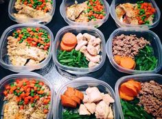 weekly meal prep turkey, fish and chicken