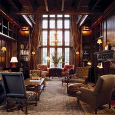 53 Trendy Home Library Ideas Room House English Manor Houses, English House, English Library, English Style, English Cottages, Home Library Design, House Design, Library Ideas, Library Room