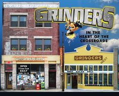 Grinders -  serving New York-style pizzas, sandwiches, burgers, authentic Phillies, fresh salads, and world famous Death Wings    Grinders West - serves sandwiches made with the finest Dietz & Watson meats and artisan cheeses, along with soups, salads, and pasta