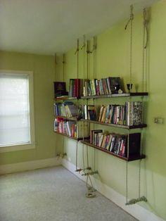 hanging book shelves.