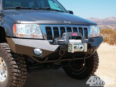 Warn Winch In Custom Bumper