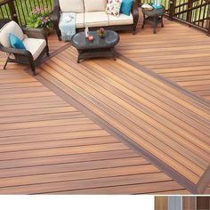 Shop Fiberon Concordia Horizon Composite Decking Board Composite Deck Boards at TheHomeDepot. Outdoor Flooring Options, Deck Flooring, Composite Flooring, Flooring Ideas, Patio Deck Designs, Patio Design, Home Depot, Deck Patterns, Trex Composite Decking