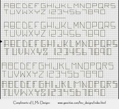 stitches high - Bits of Floss: Itty Bitty Back Stitch Alphabets/Numbers Freebies Cross Stitch Numbers, Cross Stitch Letters, Cross Stitch Boards, Cross Stitch Font, Cross Stitching, Cross Stitch Embroidery, Small Alphabets, Cross Stitch Alphabet Patterns, Schrift Design