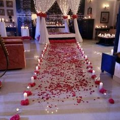 Upcoming scene from ishqbaaaz dil bole oberoi, wedding photography, dating Bridal Room Decor, Wedding Night Room Decorations, Romantic Room Decoration, Romantic Bedroom Decor, Stage Decorations, Romantic Room Surprise, Romantic Night, Romantic Dinners, Romantic Gifts