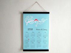 2015 Wall Calendar  Wedding Calendar  Wedding by GoldenDaysDesigns, $30.00