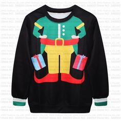 Cheap sweater texture, Buy Quality christmas sweater vest directly from China christmas frost Suppliers: Green Color Ugly Christmas Sweaters for Women and Men Full Beard Santa Claus Carry Present Bag Pullover SweateshirtsUS $