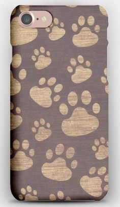 iPhone 7 Case Footprints, Paw, Surface, Texture