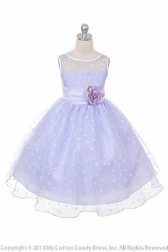 lilac flower girl dress