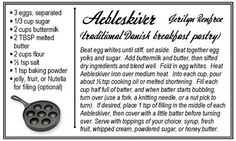 Aebleskiver: Traditional Danish Breakfast Pastry.