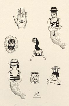 Axel Ejsmont tattoo (tattoo flash am Sonntag/ ink on paper)