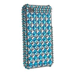 Cube Diamond Rhinestone Hard Case for iPhone 4 (Blue). $12.99, via Etsy.