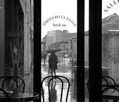 Tarde lluviosa desde un café, preciosa foto :)