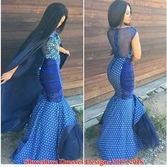shweshwe dresses gallery 2017 / 2018 - style you 7 African Men Fashion, African Dresses For Women, African Attire, African Wear, African Fashion Dresses, Fashion Outfits, African Women, African Outfits, South African Traditional Dresses