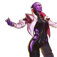 Aria T'Loak,ME персонажи,Mass Effect,фэндомы