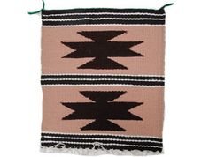 "Gallup Throw Rug,  Navajo Wool Cotton Handmade-Set 5, 11""x 12 1/2"""