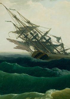 A Storm on a Mediterranean Coast by Claude-Joseph Vernet, 1767 (detail)