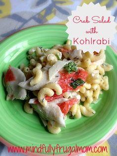 Crab Salad Recipe Featuring Kohlrabi   Wickham Farms CSA Week 3 - Mindfully Frugal Mom