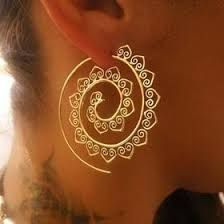 Image result for geometric wire earrings