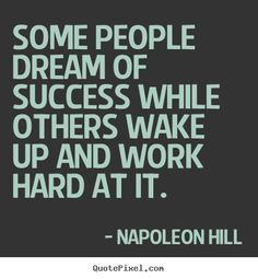 Napoleon Hill Quote.