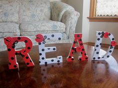 READ sign decorated with ladybugs