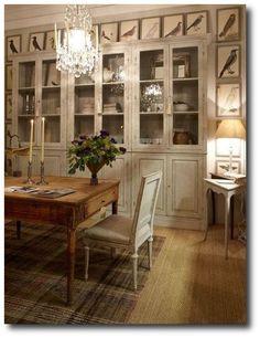 garbo interiors beautiful bird prints around cupboard How To Decorate With Botanicals