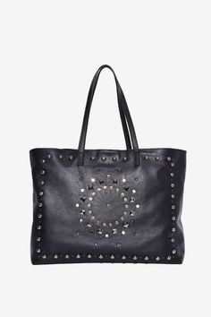 Nasty Gal Fuxury Leather Tote Bag - Onyx