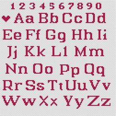 Cross Stitch Letter Patterns, Cross Stitch Numbers, Wedding Cross Stitch Patterns, Cross Stitch Letters, Small Cross Stitch, Cross Stitch Bookmarks, Beaded Cross Stitch, Cross Stitch Designs, Cross Stitch Embroidery