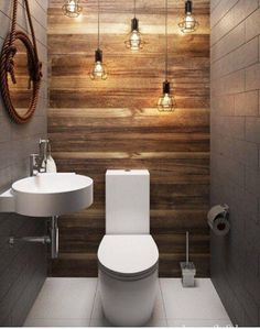 66 epic wood bathroom design ideas with Flare Far - 66 epic wooden bathroom conception ideas with flare far - Small Half Bathrooms, Bathroom Design Small, Amazing Bathrooms, Bath Design, Gray Bathrooms, Tan Bathroom, Small Toilet Design, Relaxing Bathroom, Silver Bathroom
