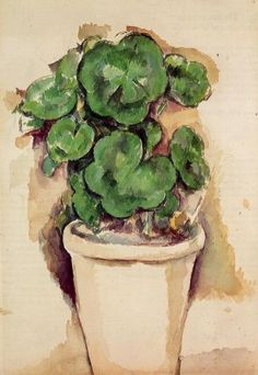 A Pot of Geraniums, Paul Cezanne