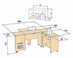 Folding Sewing Table, Craft Cabinet, Hobby Room, Diy Furniture Plans, Woodworking Wood, Modern Kitchen Design, Diy And Crafts, Home Improvement, Floor Plans