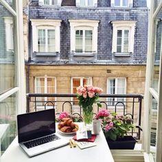 Colazione a Parigi, proprio cosí vorrei il mio terrazzino