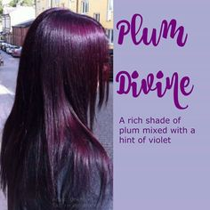 Plum divine hair color
