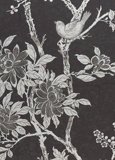 Tapet Ralph Lauren Marlowe Floral, Marcasite Exterior Design, Interior And Exterior, Shops, Washroom, Marcasite, Rooster, Architecture Design, Walls, Ralph Lauren