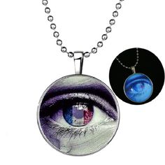 Unique glow in the dark necklace with a tearing eye inside, a special gift idea for some occasions. Cute Gifts For Her, Washer Necklace, Pendant Necklace, Special Gifts, The Darkest, Glow, Eye, Unique, Jewelry
