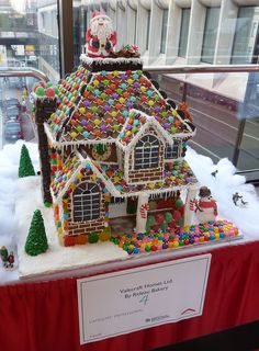 Really cool gingerbread houses - make in progress = ) Graham Cracker Gingerbread House, Gingerbread House Template, Gingerbread House Designs, Gingerbread House Parties, Gingerbread Village, Christmas Gingerbread House, Gingerbread Cake, Christmas Houses, Gingerbread Decorations