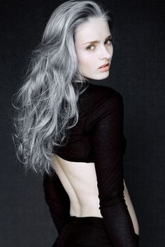 I'd be ok with having gray hair, if it looks as awesome as this. I love this :D
