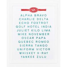 Sycamore Street Press-Alpha Bravo Charlie (Alphabet) Print
