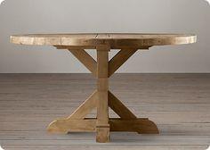 unfinished wooden pedestal table base
