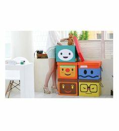 Decorative Corrugate Boxes, 14.2W x 11.8L x 13H, 5 Pack