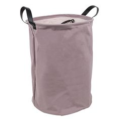 Mauve Laundry Basket With Handles: Help keep the bedroom or laundry room clutter free with one of these gorgeous mauve pink laundry basket with brown handles. The handles help with transporting the basket and each bag has a drawstring closure.  You could also use this to store clean towels, bed linen and even toys in a child's room. A really lovely and pracitical addition for any living space.