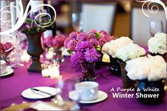 A Winter Wonderland: Purple & White Shower - Pepper Design Blog