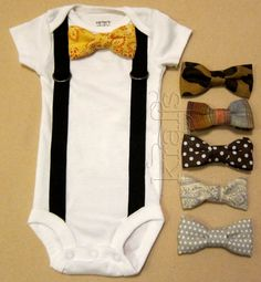 Baby Boy Outfit  Suspender Onesie with your by KraftsbyKizzy, $16.00 - cute, right??
